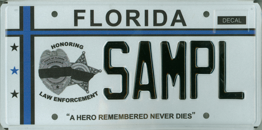 Florida Personalized License Plates >> Fallen Law Enforcement Officers specialty license plate ...