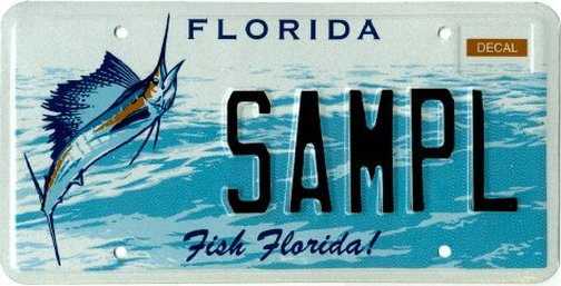 Fish florida featured florida specialty license plates for Fishing license florida